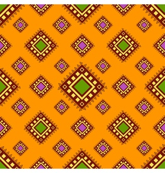 Tribal orange seamless pattern vector image