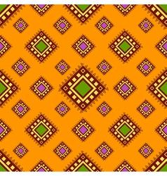 Tribal orange seamless pattern vector