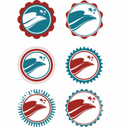 Usa stamp collection vector