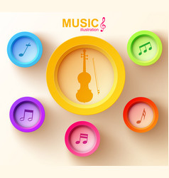 web music design concept vector image