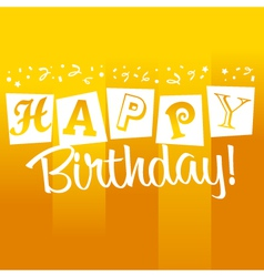 Yellow Birthday Greeting Card vector image vector image