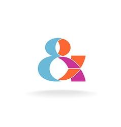 Ampersand logo vector image