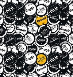 graphic design badge label vector image