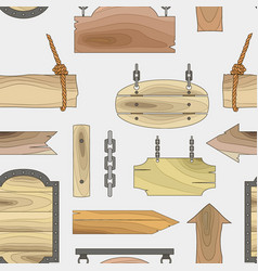 wood banners boards pattern vector image vector image