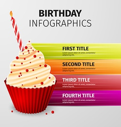 birthday infographics vector image vector image