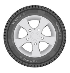 car wheel cartire isolated on a white background vector image vector image