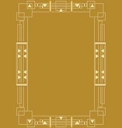 golden background with golden embossed art deco vector image