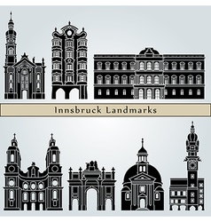 Innsbruck landmarks and monuments vector image
