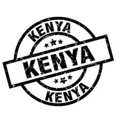 kenya black round grunge stamp vector image vector image