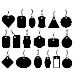 Set of different price tags vector image vector image