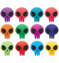 skull icons vector image
