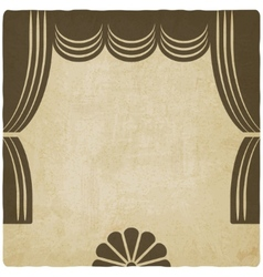 theater stage with curtains old background vector image vector image