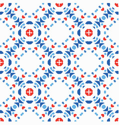 blue red pattern boho background vector image