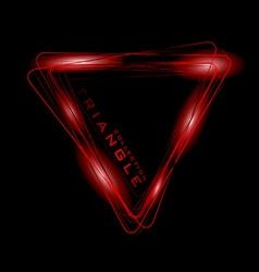 bright colored neon triangle symbol or icon vector image vector image