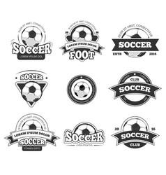 football soccer club logo badge templates vector image vector image