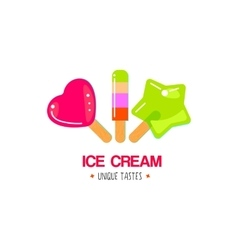 Fruit ice cream design vector image