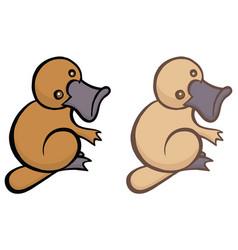 funny cartoon platypus vector image