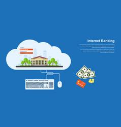 internet banking banner vector image vector image