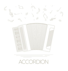 Musical instruments graphic template Accordion vector image