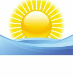 summer seascape vector image