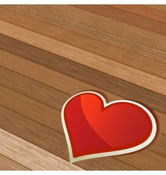 Valentines Day background with heart EPS8 vector image