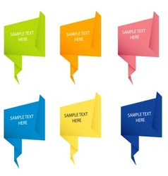 Abstract origami speech bubble background vector image