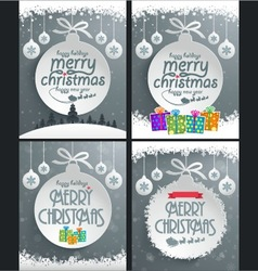 Christmas Ball Backgrounds vector image vector image