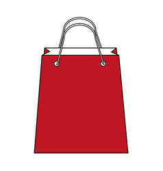 color silhouette image bag for shopping vector image vector image