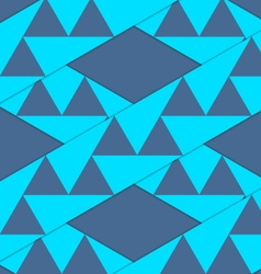 Retro 3D blue stripes with triangles crossed vector image