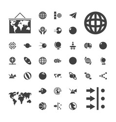 37 sphere icons vector
