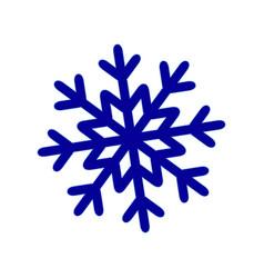 a snowflake of winter snow icon christmas vector image