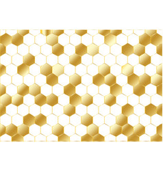 abstract golden geometric hexagon pattern on vector image