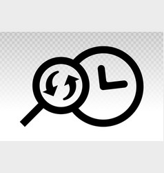 Account history search history icon - line art vector