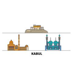 Afghanistan kabul flat landmarks vector