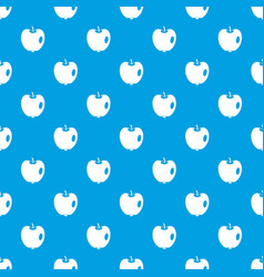 apple pattern seamless blue vector image