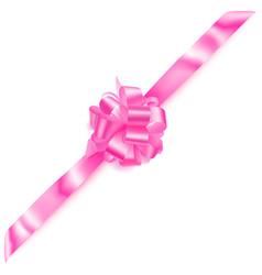 Big corner bow made of ribbon vector