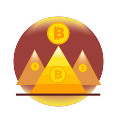 Bitcoin of the pyramid and bitcoin coin vector