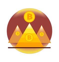Bitcoin of the pyramid and bitcoin coin vector