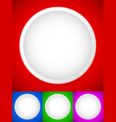 blank white circle shapes buttons circle shapes vector image