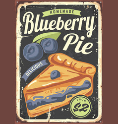 Blueberry pie poster design made for bakeries vector