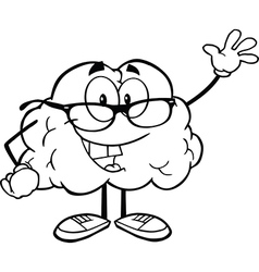 Cartoon brain activity drawings vector image