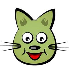 Cartoon smiling face cat vector