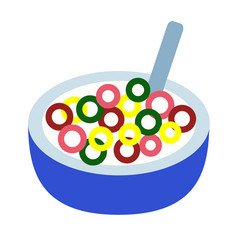 Cereal flat on white vector