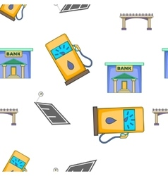 City buildings pattern cartoon style vector