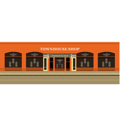 clothing store building vector image