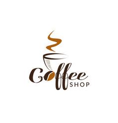 Coffee shop logo sign symbol icon vector