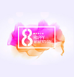 creative march 8 womans day background with vector image