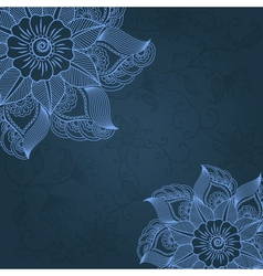 Cultural floral design vector