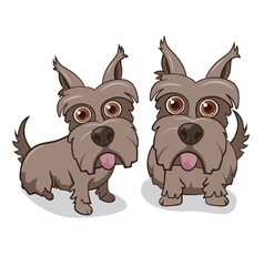 Cute Puppy Dogs vector image