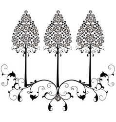 Design element flourishes tree vintage 2 vector